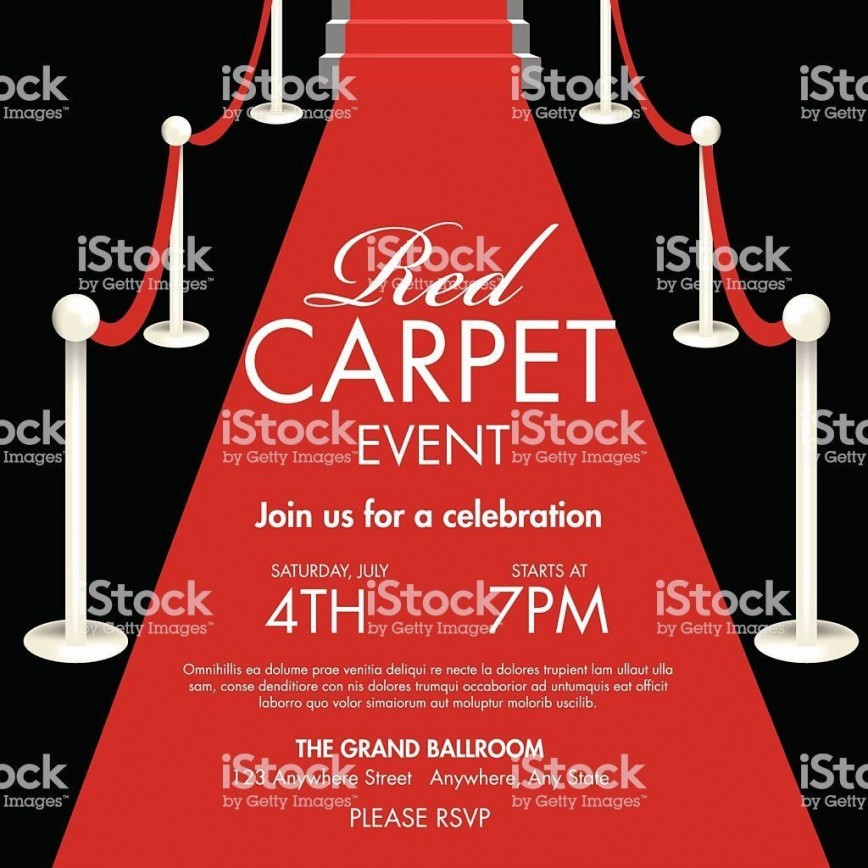 004 Unusual Red Carpet Invitation Template Free High Resolution  Party Download
