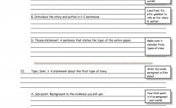 004 Unusual Research Paper Outline Template Inspiration  Templates How To Write A Mla Format Sample Style Apa