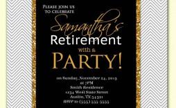 004 Unusual Retirement Party Invite Template Concept  Invitation Online M Word Free