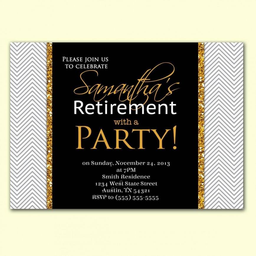 004 Unusual Retirement Party Invite Template Concept  Invitation M Word Free Download Surprise