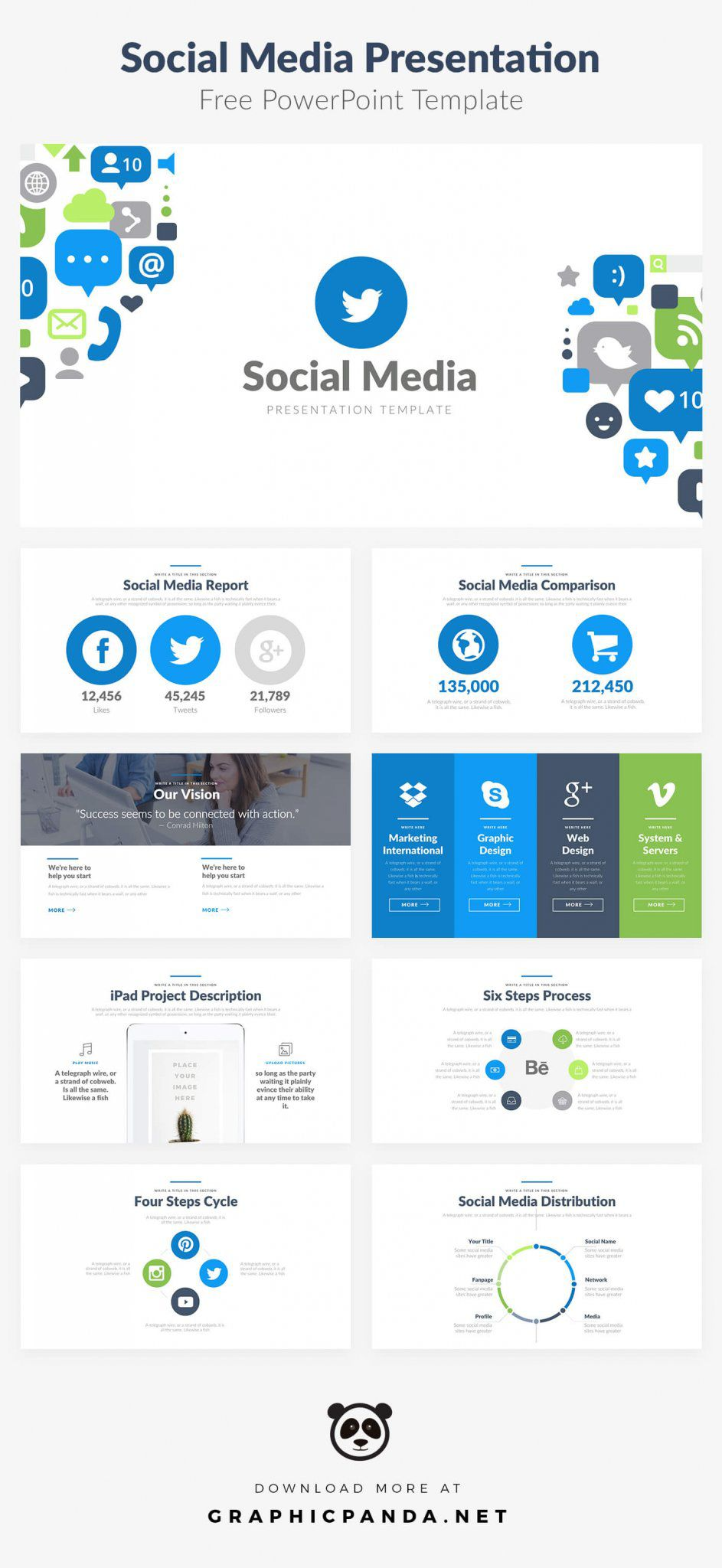 004 Unusual Social Media Powerpoint Template Free Inspiration  Strategy Trend 2017 - ReportFull