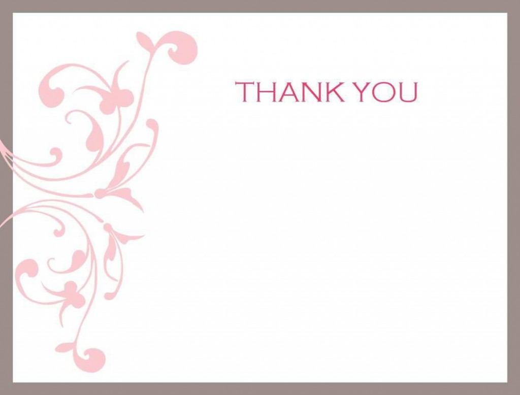 004 Unusual Thank You Note Template Free Printable Concept Large