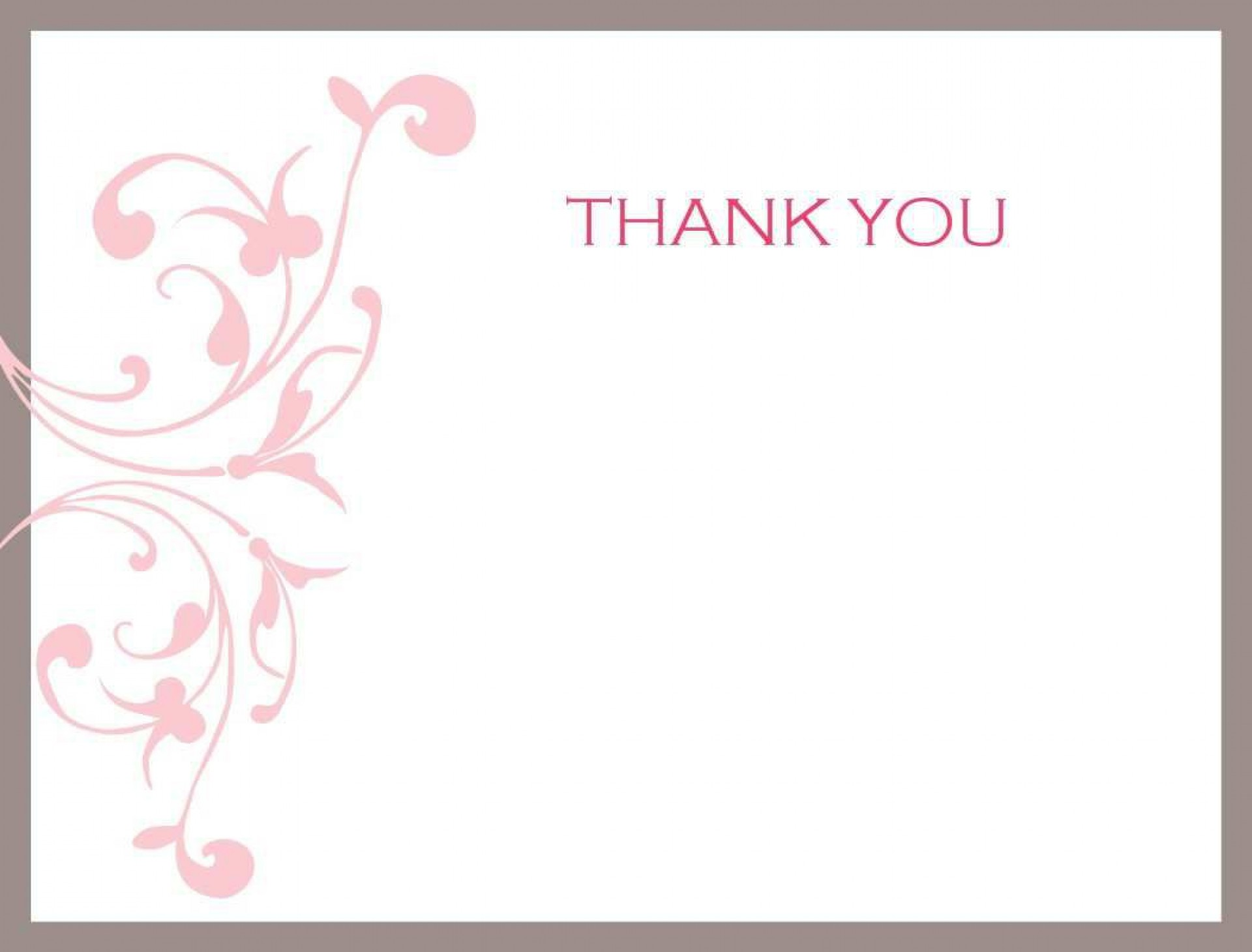 004 Unusual Thank You Note Template Free Printable Concept 1920