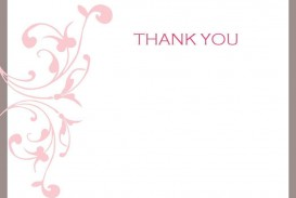 004 Unusual Thank You Note Template Free Printable Concept