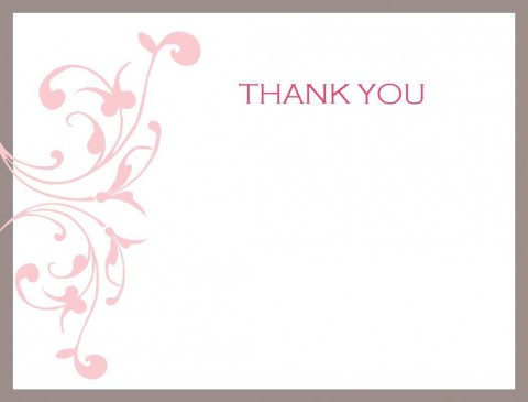 004 Unusual Thank You Note Template Free Printable Concept 480