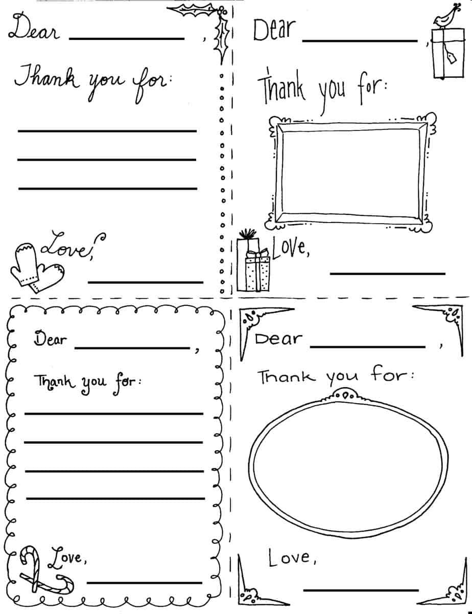 004 Unusual Thank You Note Template Printable Image  Letter Baby Card WordFull