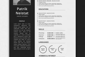 004 Wonderful 1 Page Resume Template Example  One Microsoft Word Free For Fresher
