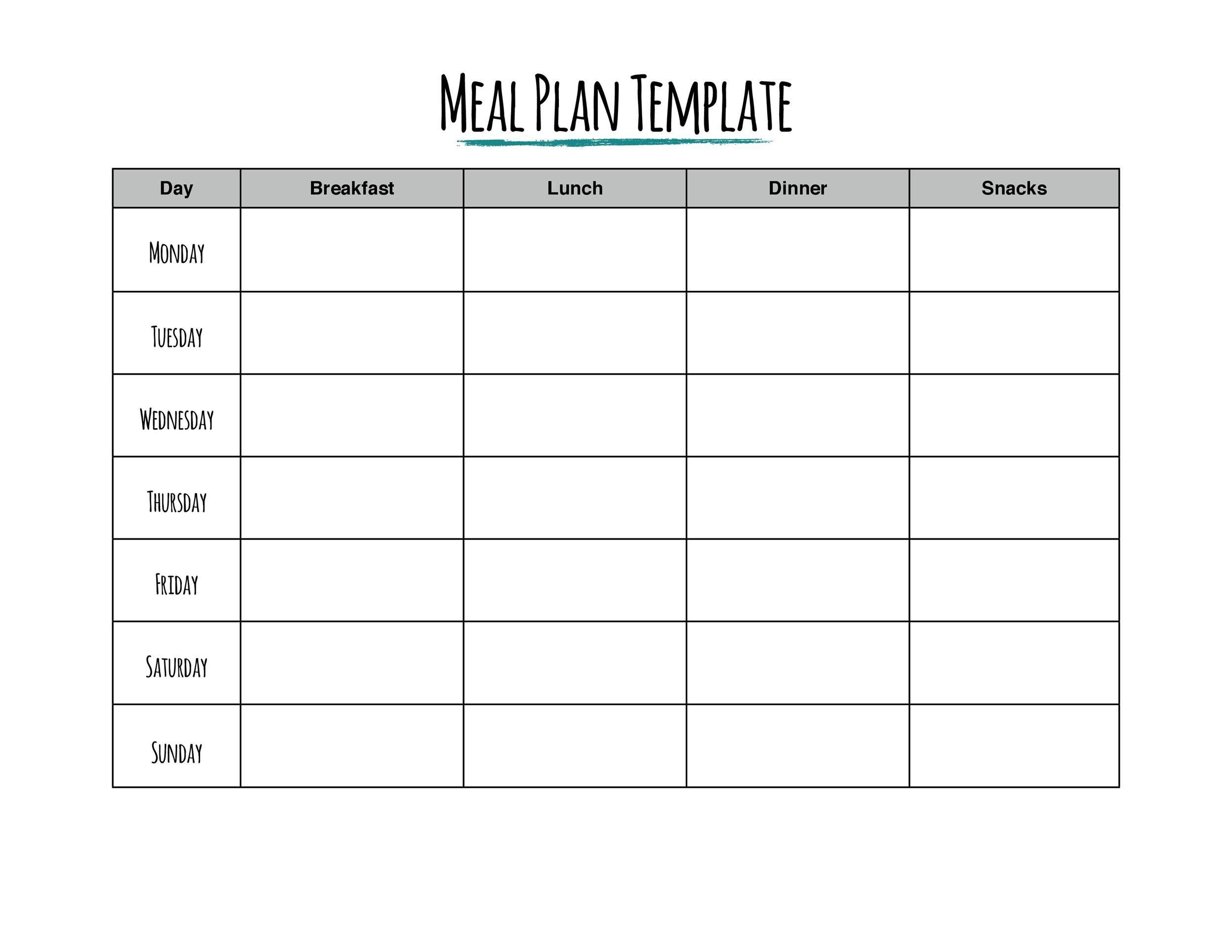 004 Wonderful 2 Week Meal Plan Printable Image Full