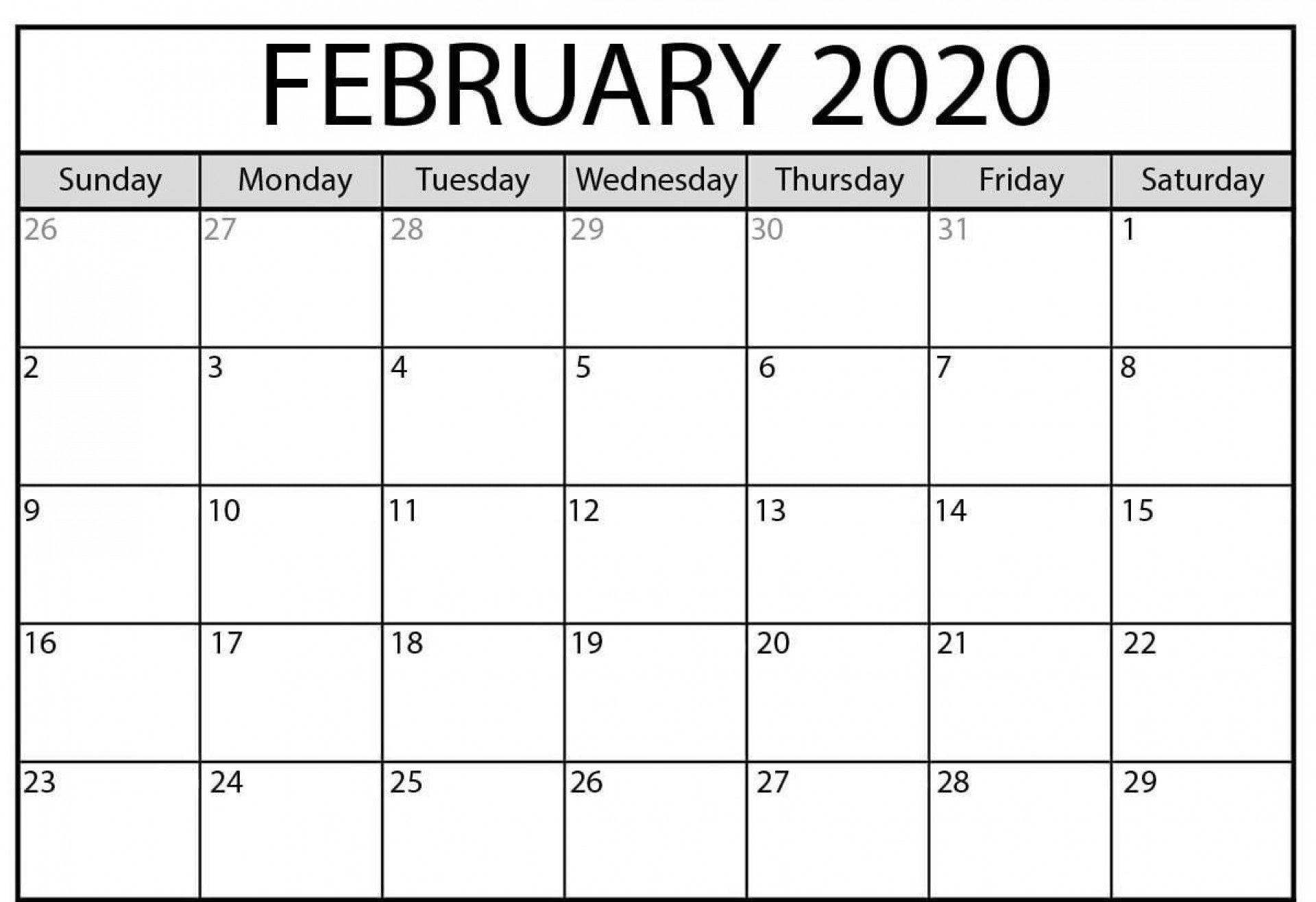 004 Wonderful 2020 Monthly Calendar Template Highest Quality  Templates Word Australian Free1920