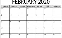 004 Wonderful 2020 Monthly Calendar Template Highest Quality  Templates Word Australian Free