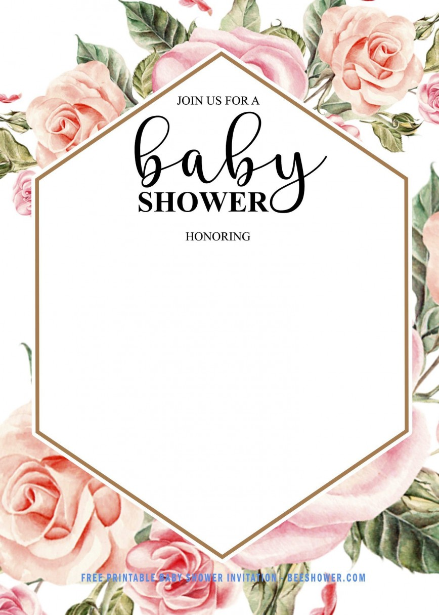 004 Wonderful Baby Shower Invitation Girl Free Photo  Online Editable For A Nautical Template