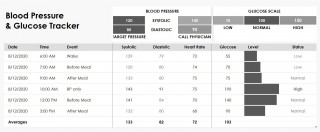 004 Wonderful Blood Glucose Tracker Template Concept  Spreadsheet Tracking320