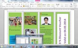 004 Wonderful Brochure Layout M Word Inspiration  Microsoft Funeral Template