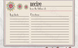 004 Wonderful Editable Recipe Card Template High Definition  Free For Microsoft Word 4x6 Page