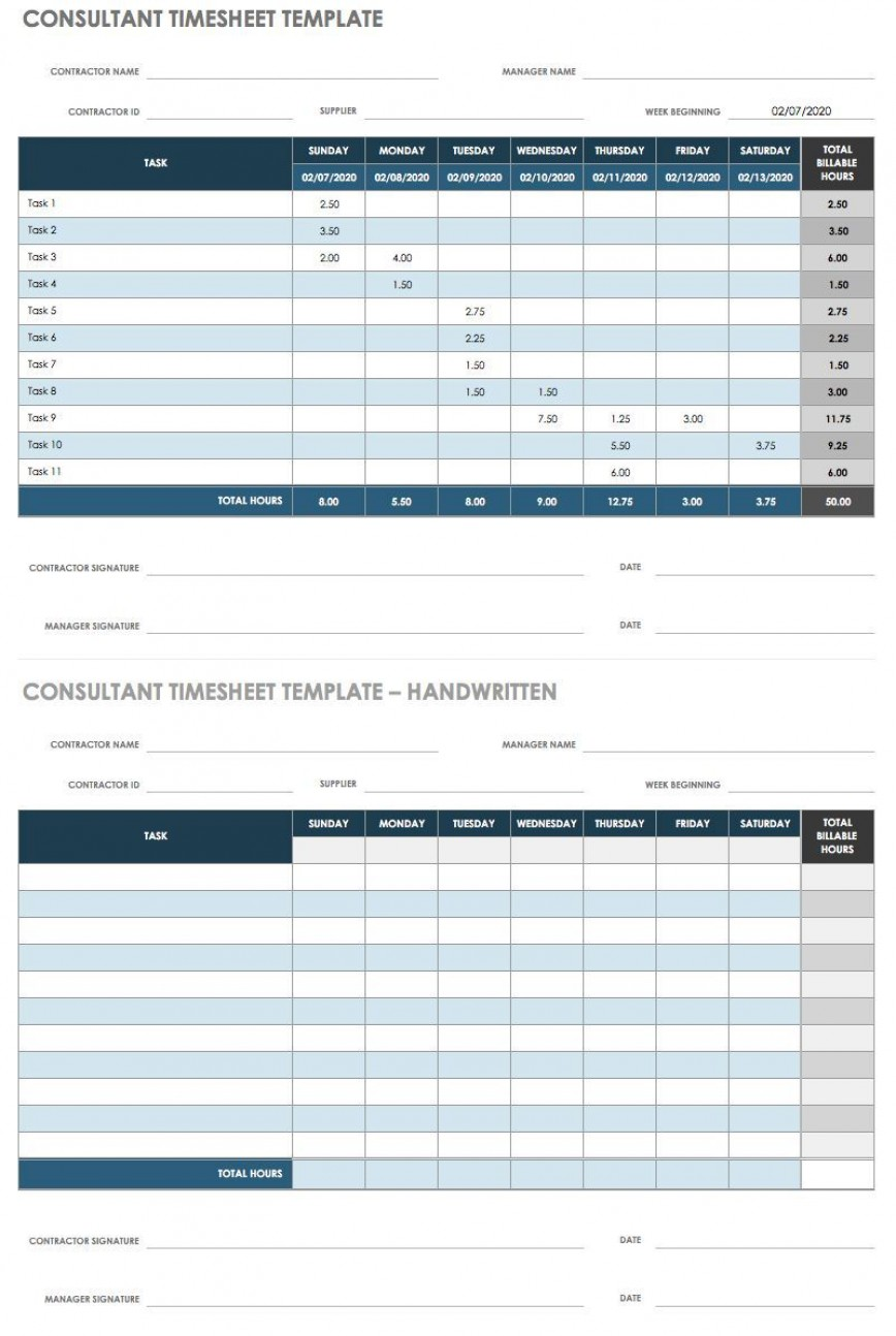 004 Wonderful Employee Time Card Printable Concept  Timesheet Template Excel Free Multiple Sheet868