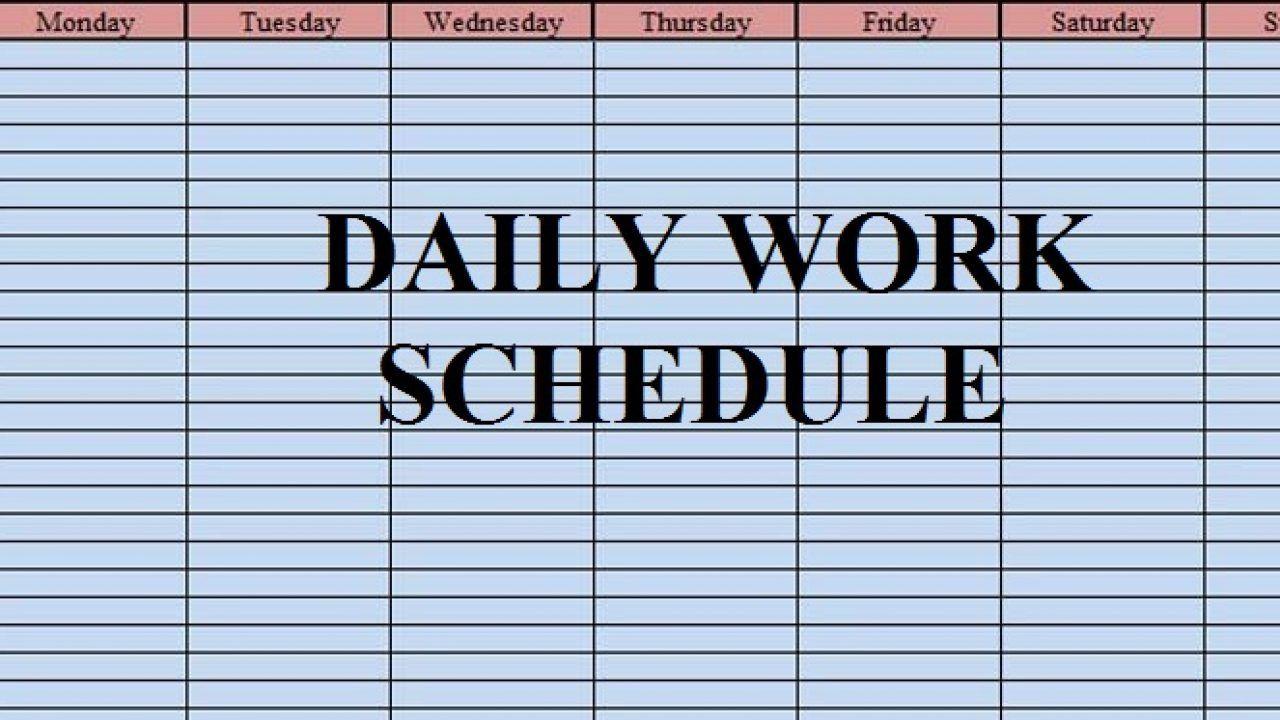 004 Wonderful Excel Work Planner Template High Def  Microsoft Monthly Schedule Plan SchedulingFull