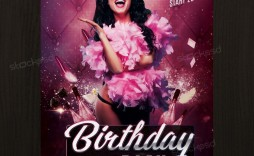 004 Wonderful Free Birthday Flyer Template Psd High Definition  Foam Party - Neon Glow Download Pool
