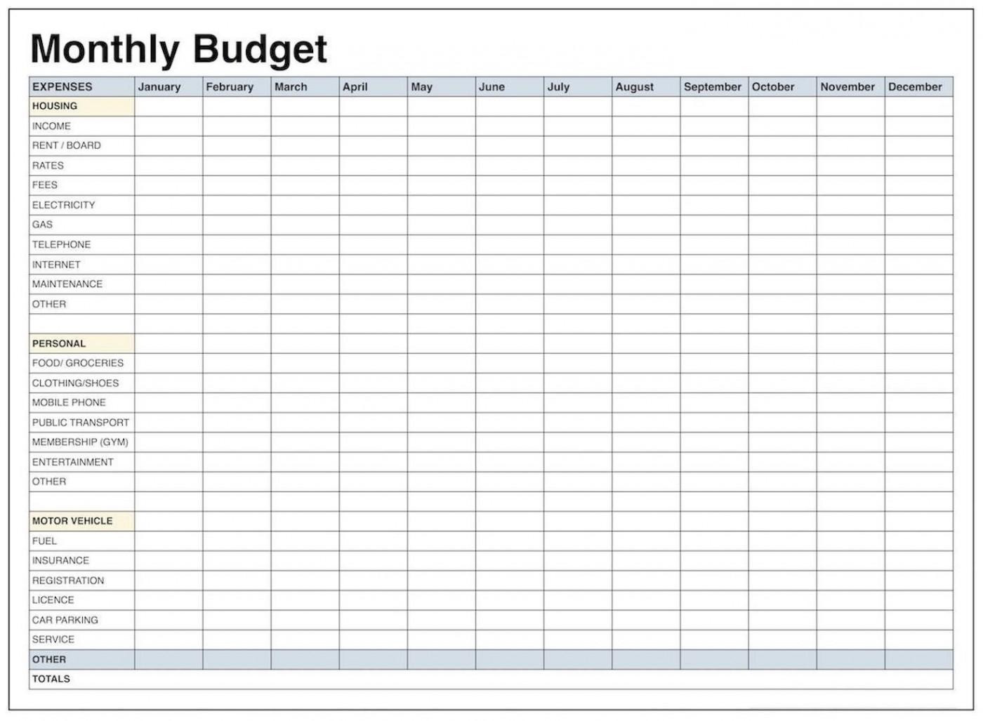 004 Wonderful Free Blank Monthly Budget Sheet High Resolution  Printable Worksheet1400