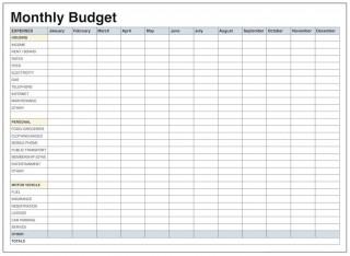 004 Wonderful Free Blank Monthly Budget Sheet High Resolution  Printable Worksheet320
