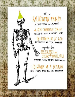 004 Wonderful Free Halloween Invitation Template Printable Highest Clarity  Birthday Party320