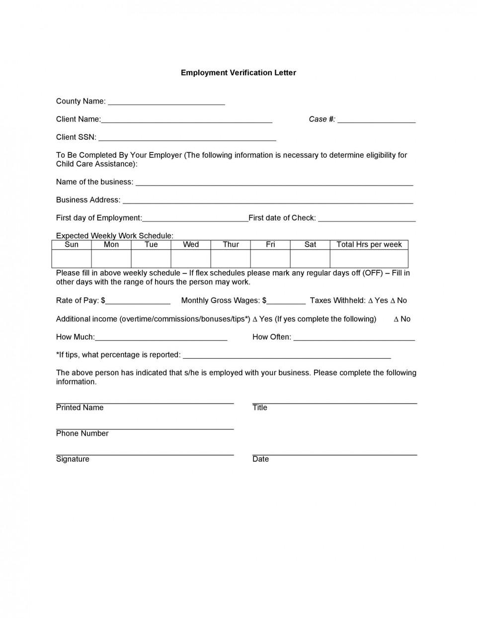 004 Wonderful Free Income Verification Form Template Inspiration 960