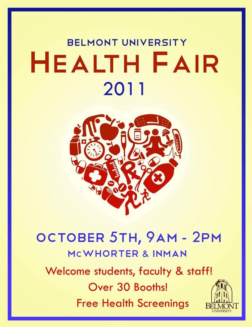 004 Wonderful Health Fair Flyer Template Free Design  DownloadFull