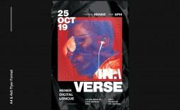 004 Wonderful Hip Hop Flyer Template Sample  Templates Hip-hop Party Free Download