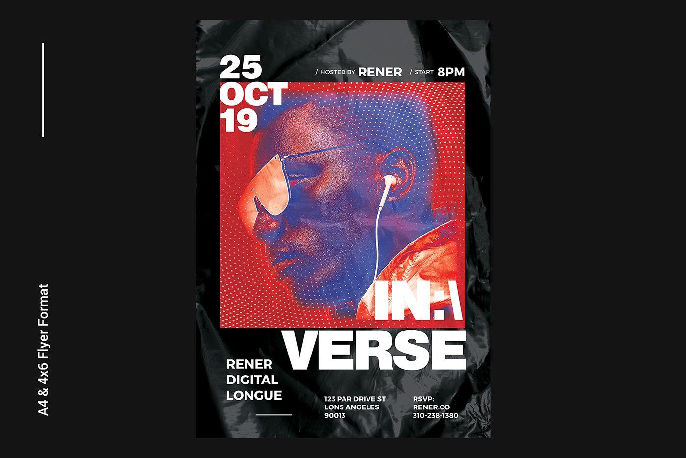 004 Wonderful Hip Hop Flyer Template Sample  Templates Hip-hop Party Free DownloadFull