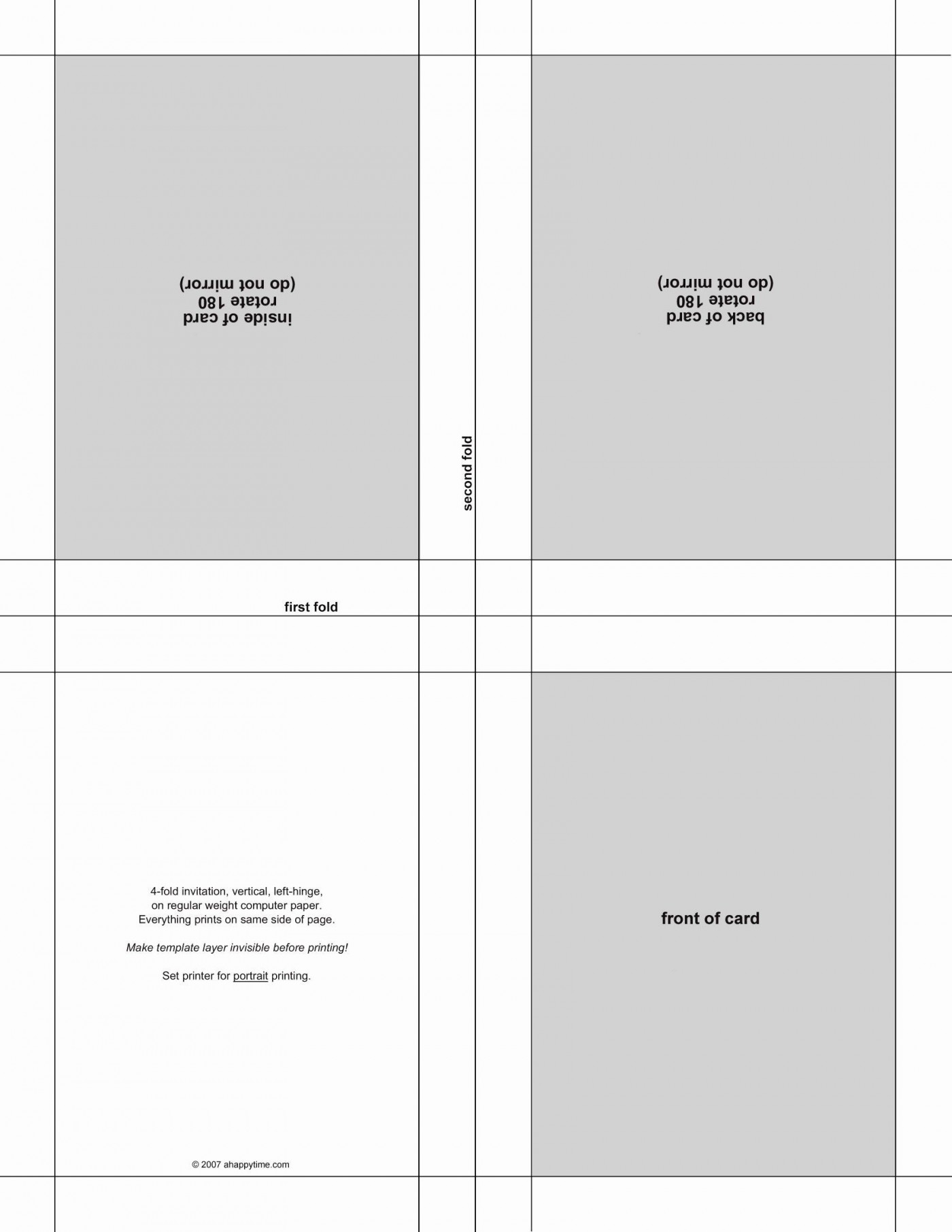 004 Wonderful Quarter Fold Card Template Publisher Design 1400