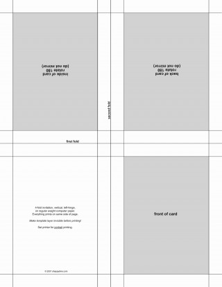 004 Wonderful Quarter Fold Card Template Publisher Design 320