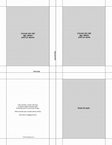 004 Wonderful Quarter Fold Card Template Publisher Design 360