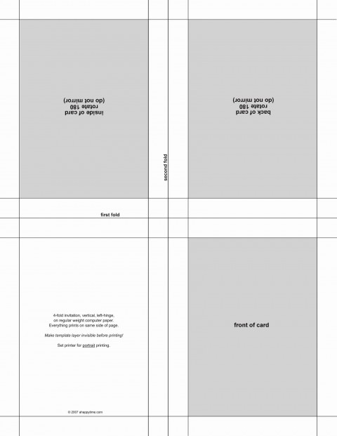 004 Wonderful Quarter Fold Card Template Publisher Design 480