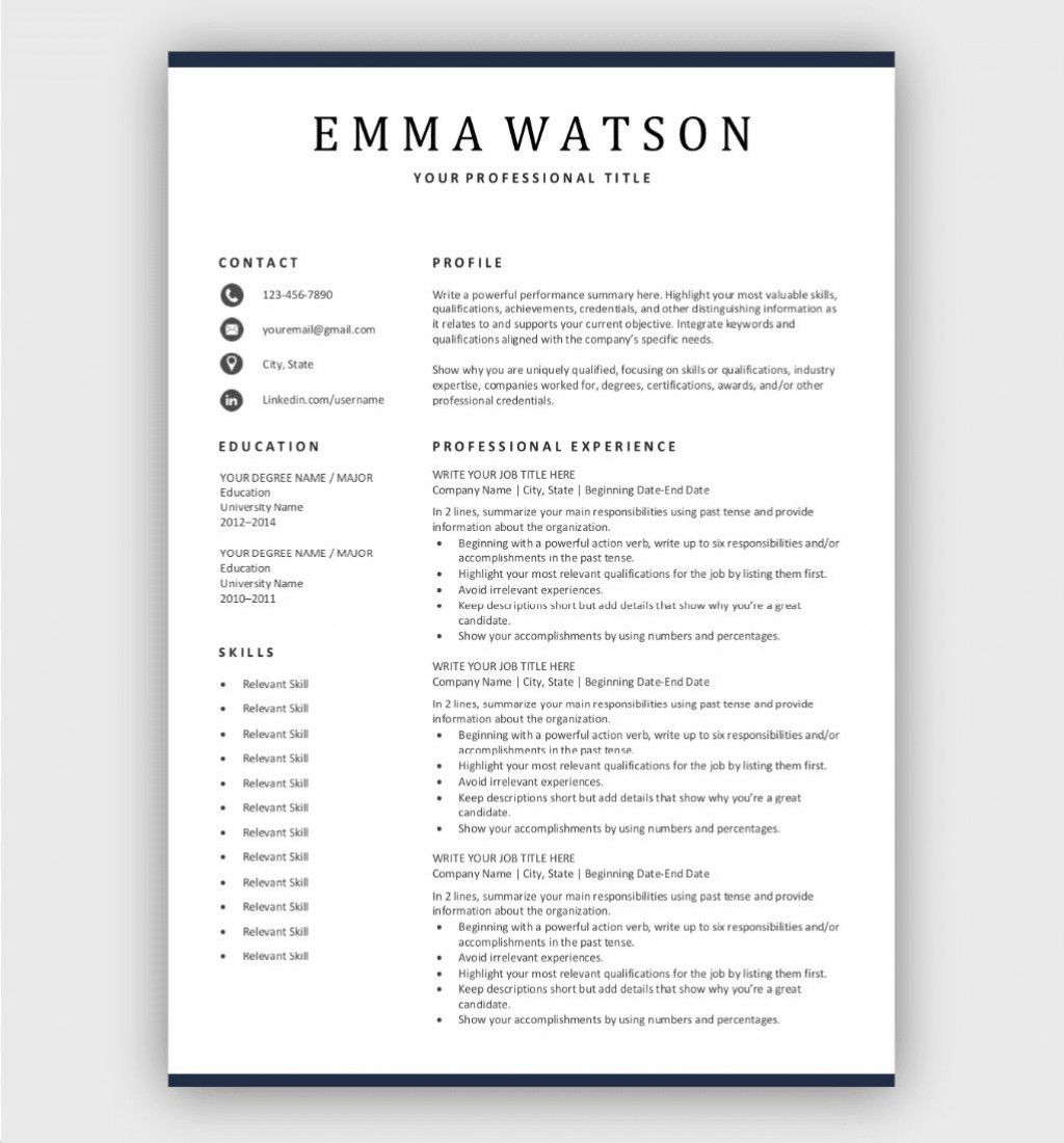 004 Wonderful Simple Job Resume Template High Def  Templates Example DownloadLarge