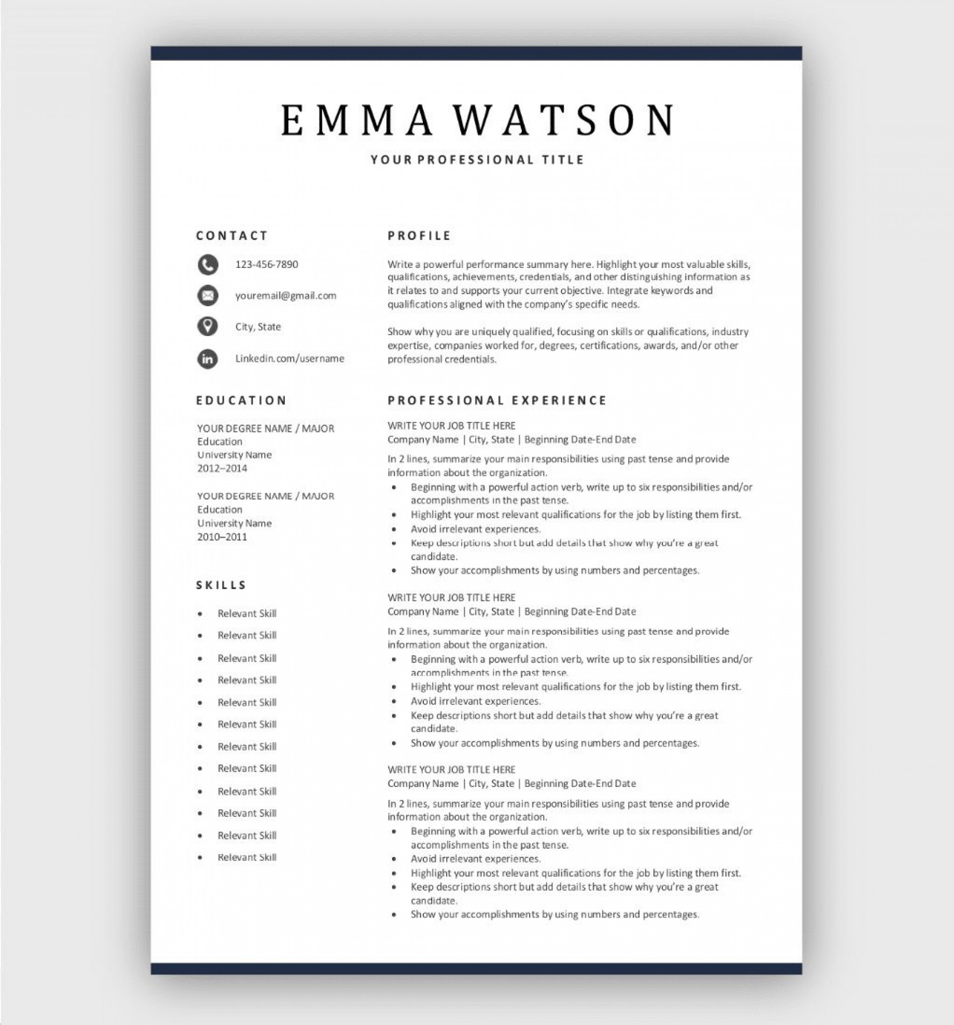 004 Wonderful Simple Job Resume Template High Def  Templates Example Download1920