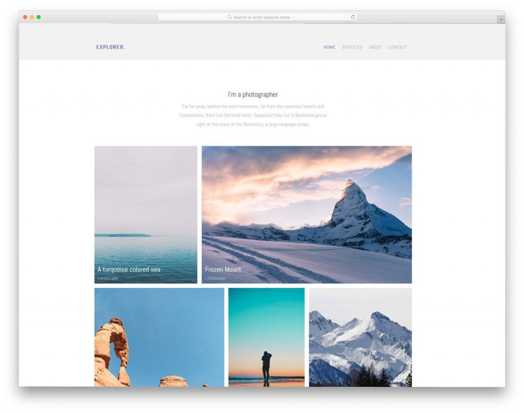 004 Wonderful Simple Web Page Template Photo  Free Download Html CodeLarge