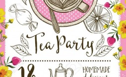 004 Wonderful Tea Party Invitation Template Inspiration  Online Letter