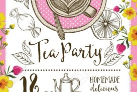 004 Wonderful Tea Party Invitation Template Inspiration  Vintage Free Editable Card Pdf