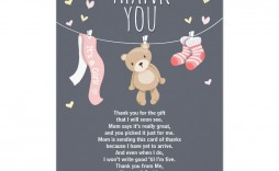 004 Wonderful Thank You Note Wording Baby Shower Concept  For Hosting Card