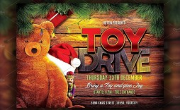 004 Wonderful Toy Drive Flyer Template Free Idea  Christma Download