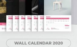 004 Wondrou 2020 Calendar Template Indesign Highest Quality  Adobe Free