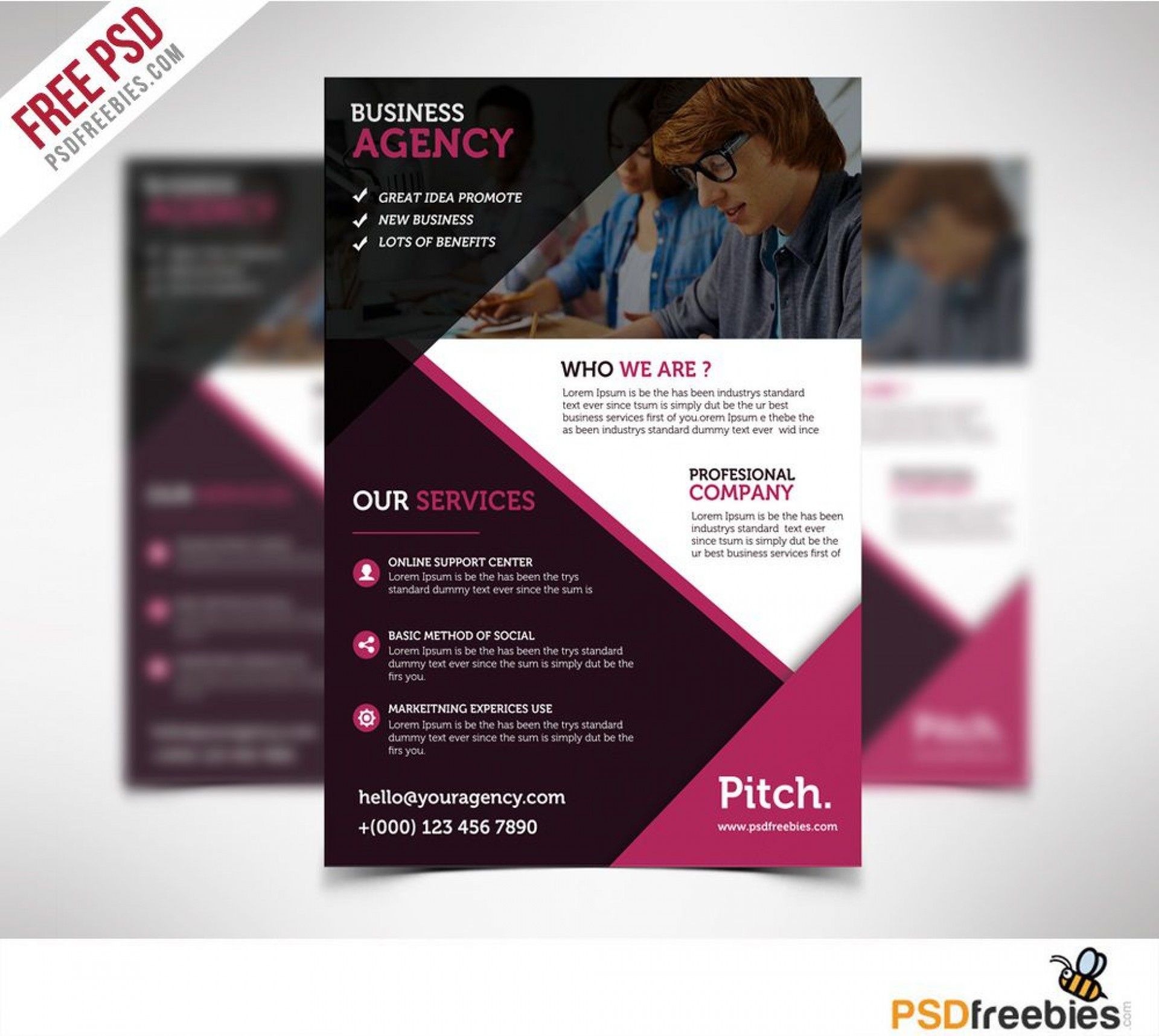 004 Wondrou Busines Flyer Template Psd Free Download Concept 1920
