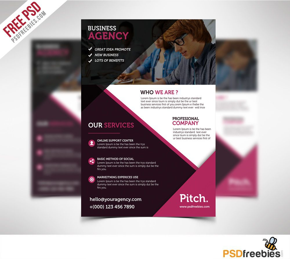 004 Wondrou Busines Flyer Template Psd Free Download Concept Full