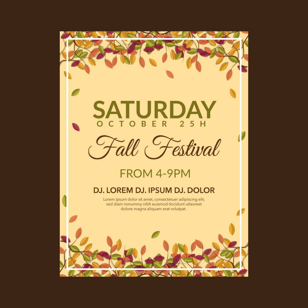 004 Wondrou Fall Festival Flyer Template Example  FreeLarge