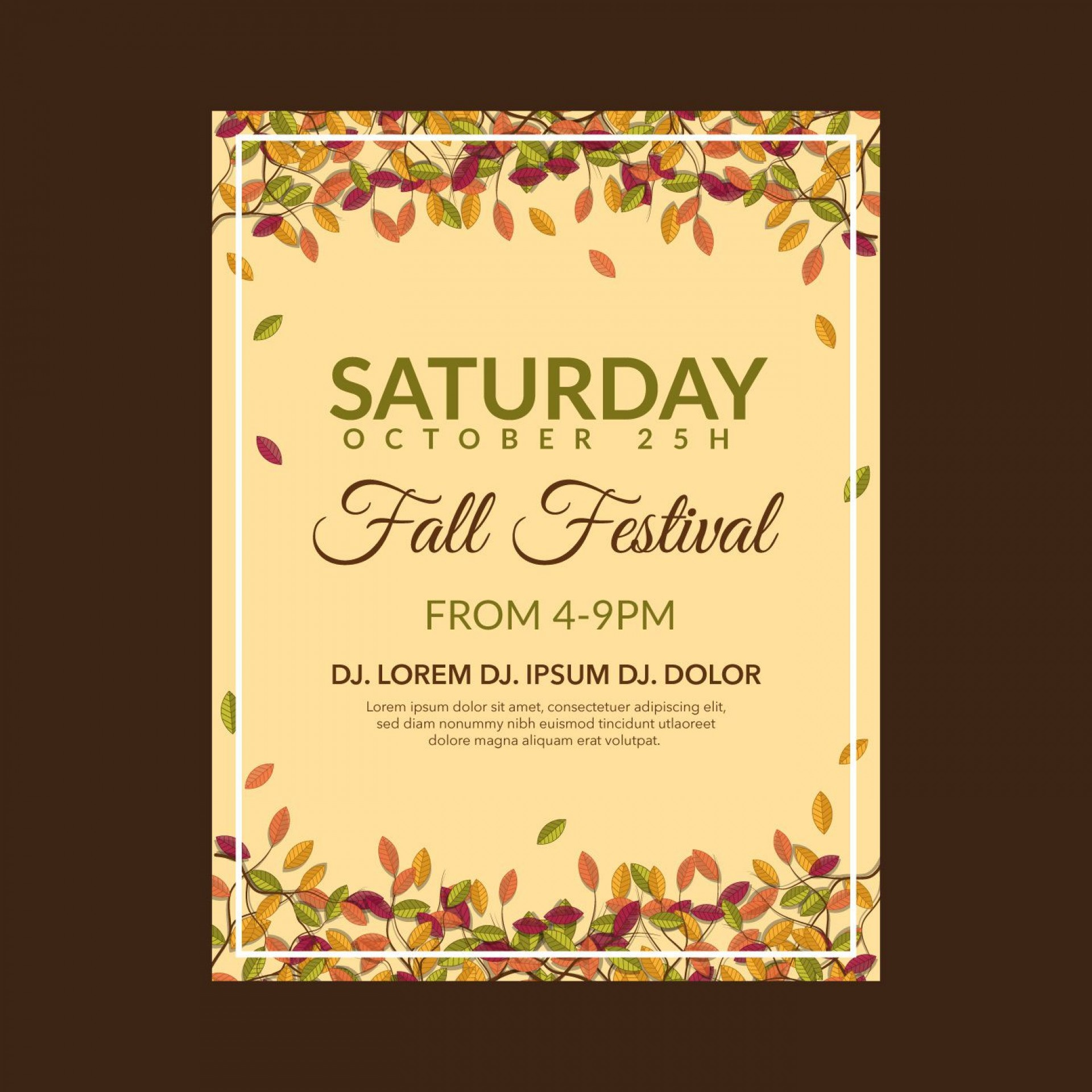 004 Wondrou Fall Festival Flyer Template Example  Free1920