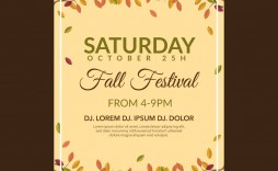 004 Wondrou Fall Festival Flyer Template Example  Free