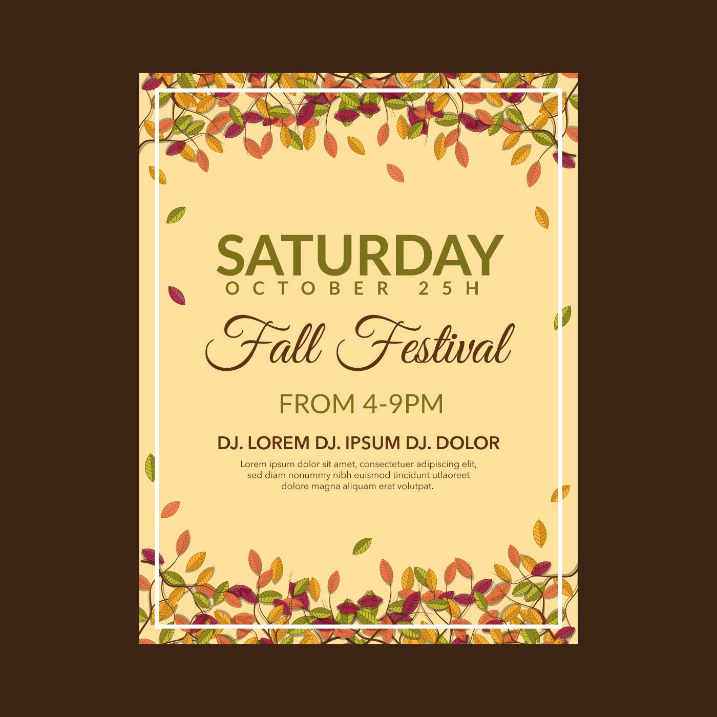 004 Wondrou Fall Festival Flyer Template Example  FreeFull