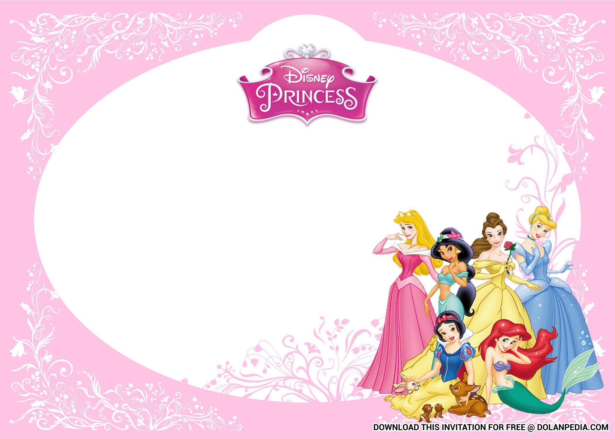 004 Wondrou Free Princes Baby Shower Invitation Template For Word High Def Full