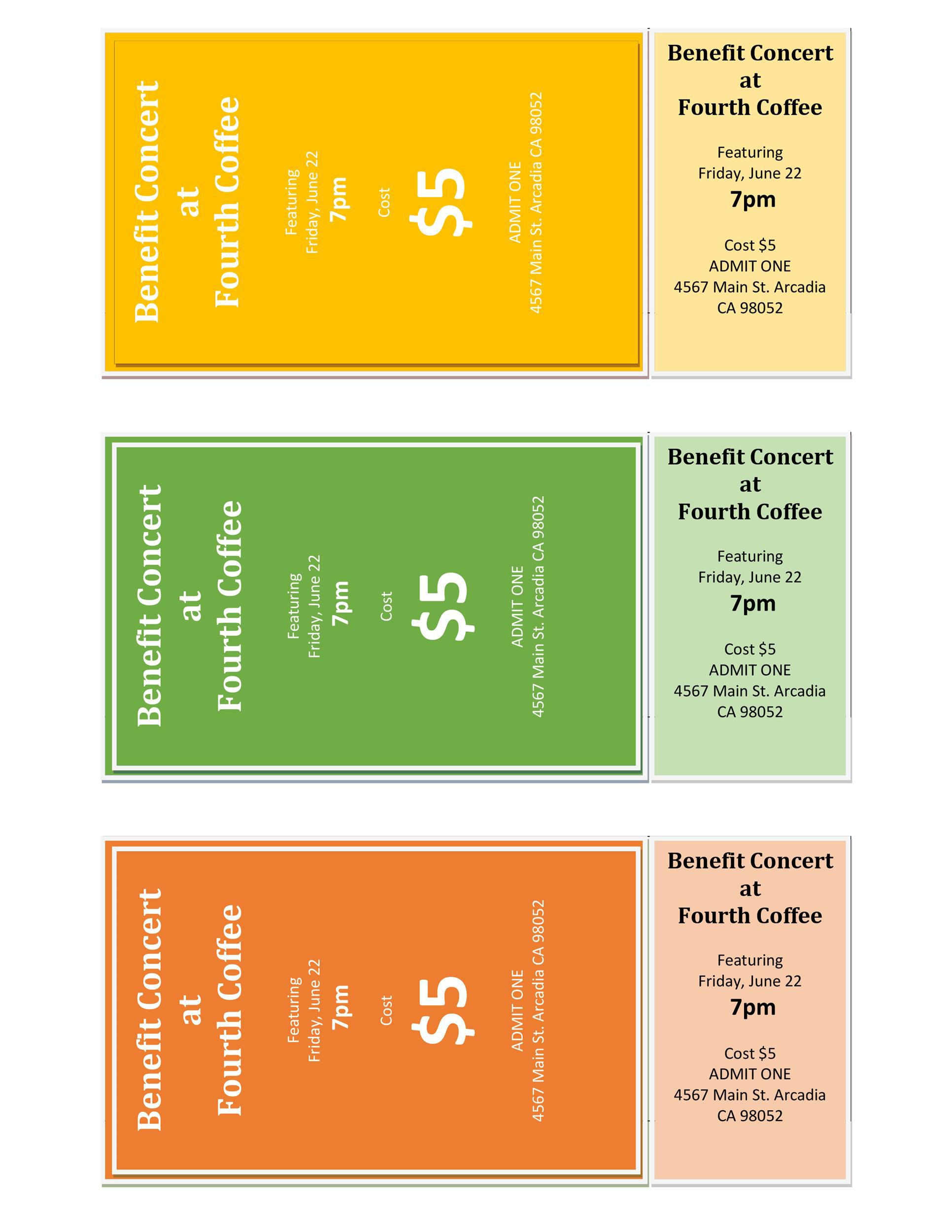 004 Wondrou Fundraiser Ticket Template Free Picture  Printable Download Car WashFull