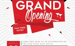 004 Wondrou Grand Opening Flyer Template Free Example  Restaurant