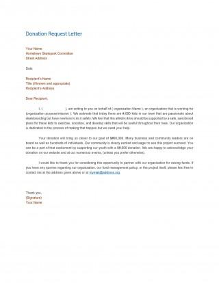 004 Wondrou In Kind Donation Letter Template Idea  Receipt Request320